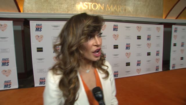 interview karina smirnoff on her ensemble being a part of the night what she's most looking forward to at the 21st annual race to erase ms in los... - karina smirnoff stock videos & royalty-free footage