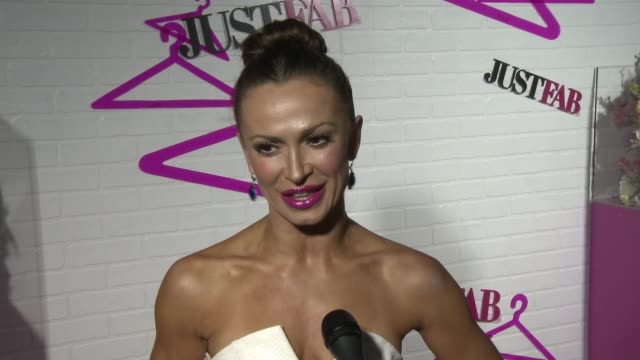 interview karina smirnoff on the event at justfab celebrates the launch of readytowear in los angeles ca - karina smirnoff stock videos & royalty-free footage