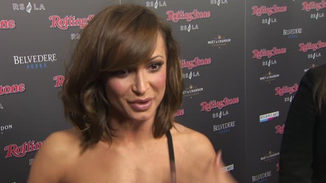 karina smirnoff on what she thinks of the fact that rolling stone now has their own restaurant what she thought of the show and her favorite moment... - karina smirnoff stock videos & royalty-free footage