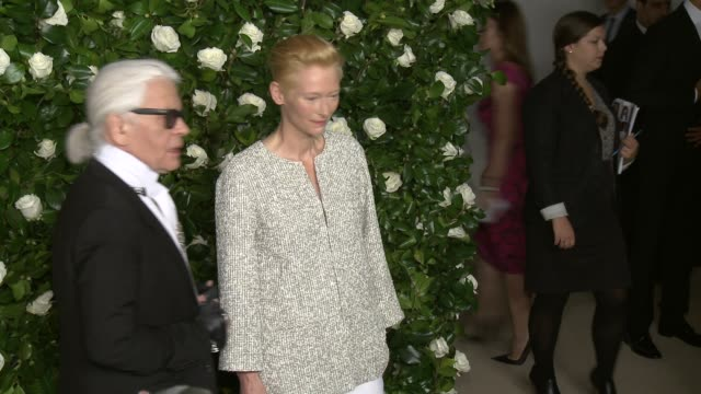 Karl Lagerfeld and Tilda Swinton at The Museum Of Modern Art 2013 Film Benefit A Tribute To Tilda Swinton at the Museum Of Modern Art on in New York...