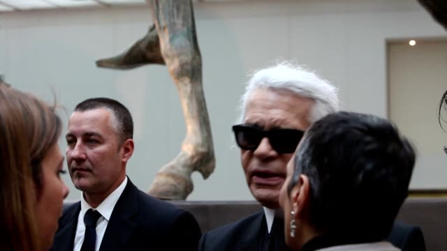 Karl Lagerfeld at 'Fendi for Fountains' Press Conference at Campidoglio on January 28 2013 in Rome Italy