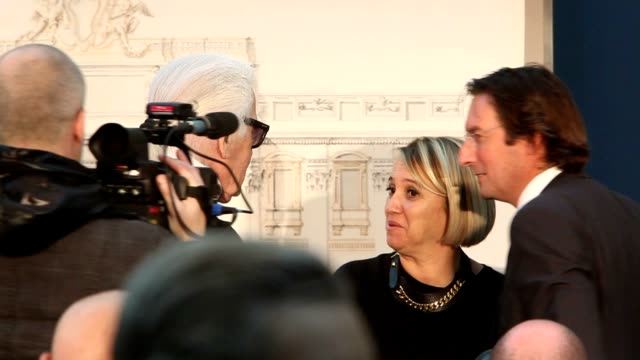 karl lagerfeld pietro beccari and silvia venturini fendi at 'fendi for fountains' press conference at campidoglio on january 28 2013 in rome italy - karl lagerfeld stock videos and b-roll footage