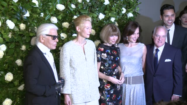Karl Lagerfeld Tilda Swinton Anna Wintour Marlene Hess Henry Kravis and Rajendra Roy at The Museum Of Modern Art 2013 Film Benefit A Tribute To Tilda...