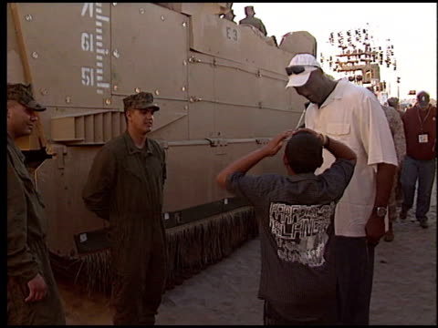 karl malone at the Rockin' the Corps Concert at Camp Pendleton in San Diego California on April 1 2005