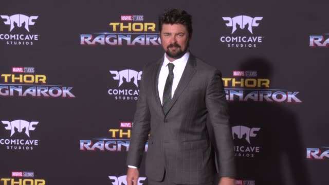 karl urban at the thor ragnarok premiere at the el capitan theatre on october 10 2017 in hollywood california - thor: ragnarok stock videos & royalty-free footage