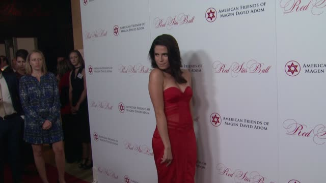 karla souza at american friends of magen david adom's red star ball at the beverly hilton hotel on october 22, 2015 in beverly hills, california. - the beverly hilton hotel stock videos & royalty-free footage