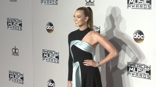 karlie kloss at 2016 american music awards at microsoft theater on november 20 2016 in los angeles california - american music awards stock videos and b-roll footage