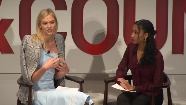 interview karlie kloss on investing in teachers and how technology can scale a business at the fifth annual town country philanthropy summit at the... - interview stock videos & royalty-free footage