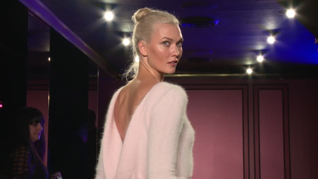 Karlie Kloss walks the runway at Brandon Maxwell Runway September 2017 New York Fashion Week at The Doubles Club on September 08 2017 in New York City