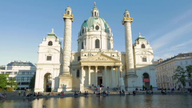 karlskirche.pan out - kirche stock videos and b-roll footage