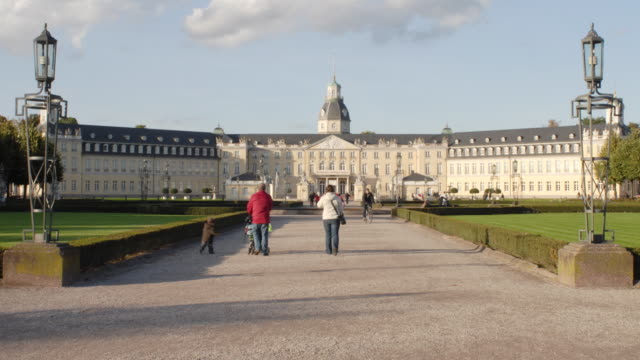 t/l, ws, karlsruhe palace, karlsruhe, baden-wurttemberg, germany - baden wurttemberg stock videos and b-roll footage
