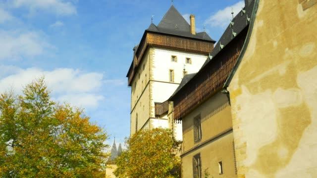 karlštejn castle (hhrad karlštejn, burg karlstein) in bohemia - traditionally czech stock videos & royalty-free footage