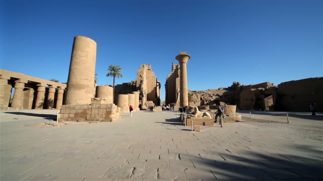karnak complex, temple of amun - temples of karnak stock videos and b-roll footage