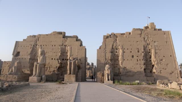 karnak, luxor, egypt - temples of karnak stock videos & royalty-free footage
