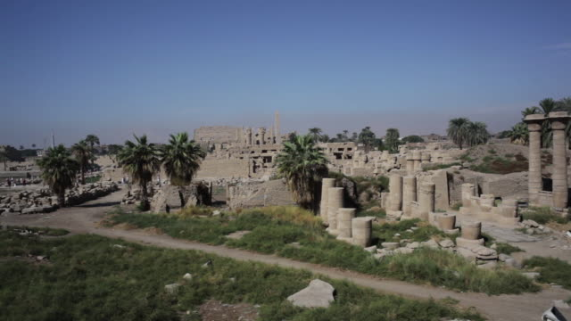 karnak temple complex in luxor, egypt - temples of karnak stock videos and b-roll footage