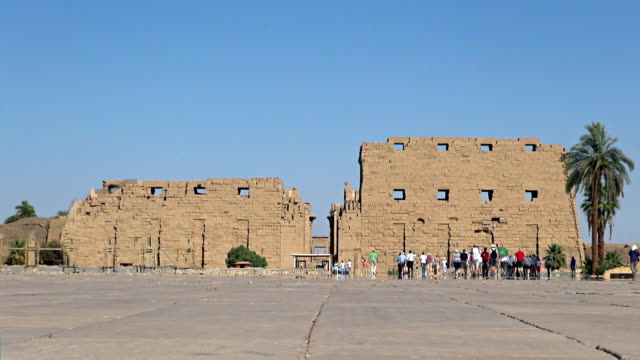 karnak temple - luxor, egypt - temples of karnak stock videos and b-roll footage