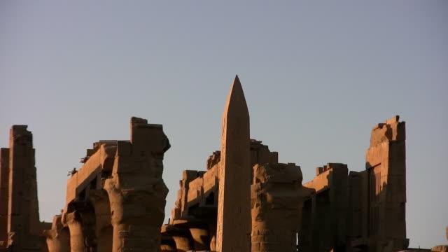 karnak temple - obelisk stock videos & royalty-free footage