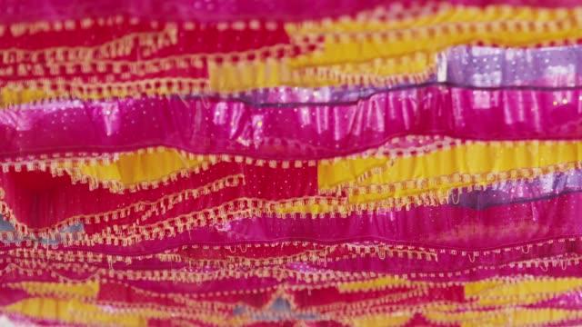Karnataka Various colored dyed cloths in Karnataka, India