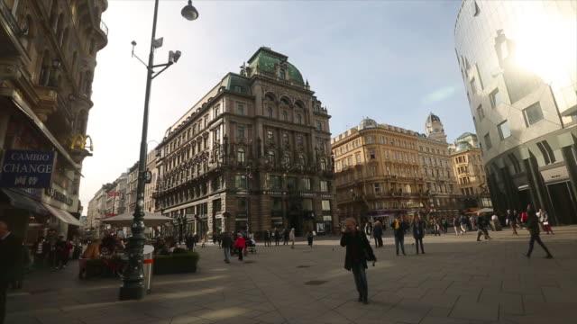 karntnerstrasse または karntner ショッピング通り - オーストリア点の映像素材/bロール