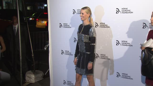 karolina kurkova at the novak djokovic foundation new york dinner at capitale on september 10 2013 in new york new york - karolina kurkova stock videos and b-roll footage