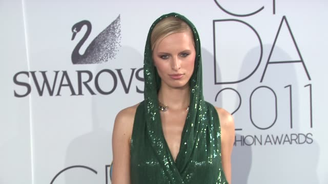 karolina kurkova at the the 2011 cfda fashion awards at new york ny - atelier fashion stock videos & royalty-free footage