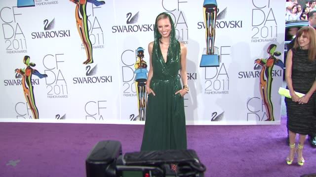 Karolina Kurkova at the The 2011 CFDA Fashion Awards at New York NY