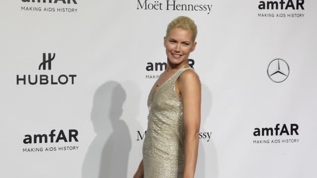 broll karolina kurkova jessica hart goga ashkenazi and valeria mazza at amfar milano 2013 gala milan fashion week s/s 2014 at la permanente on... - karolina kurkova stock videos and b-roll footage