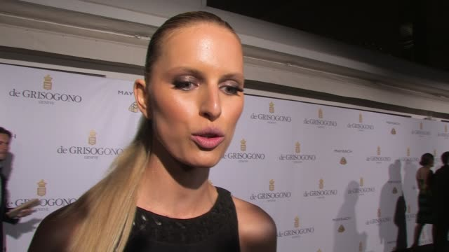 karolina kurkova on fashion for relief how she got involved being at the party at de grisogono party 64th cannes film festival on may 17 2011 in... - karolina kurkova stock videos and b-roll footage