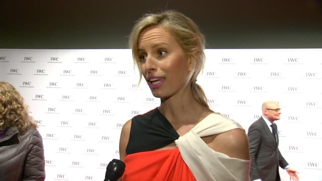 interview karolina kurkova on living in tribeca for 12 years and her excitement for tribeca film festival on how great it is for iwc's dinner for... - karolina kurkova stock videos and b-roll footage