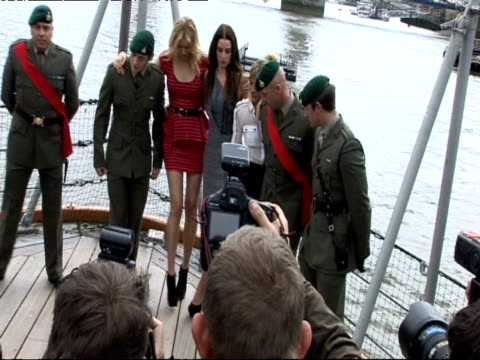karolina kurkova rachel nichols sienna miller and marines at the gi joe rise of the cobra photocall at london england - karolina kurkova stock videos and b-roll footage