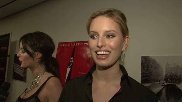 karolina kurkova talks about working with the designer how he is such a showman she talks about the fun they have at fittings and how over the top he... - karolina kurkova stock videos and b-roll footage