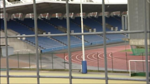 karren brady criticises tottenham hotspur plans for olympic stadium t01021107 ext general views of crystal palace athletics stadium including viewsof... - カレン ブラディ点の映像素材/bロール