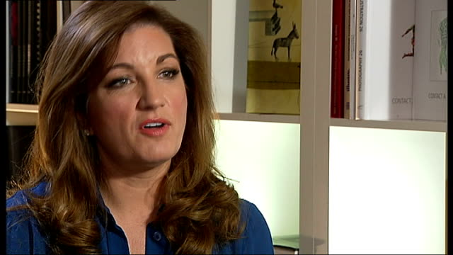 karren brady launches employment programme and talks of job creation at the olympic stadium int brady interview continues sot - カレン ブラディ点の映像素材/bロール