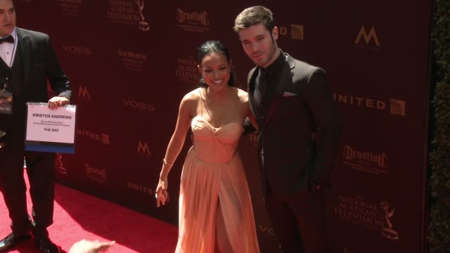 Karrueche Tran and Kristos Andrews at 43rd Annual Daytime Emmy Awards at Westin Bonaventure Hotel on May 01 2016 in Los Angeles California