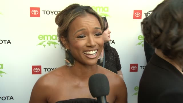 interview karrueche tran at the 29th annual environmental media awards at montage beverly hills on may 30 2019 in beverly hills california - environmental media awards stock videos & royalty-free footage