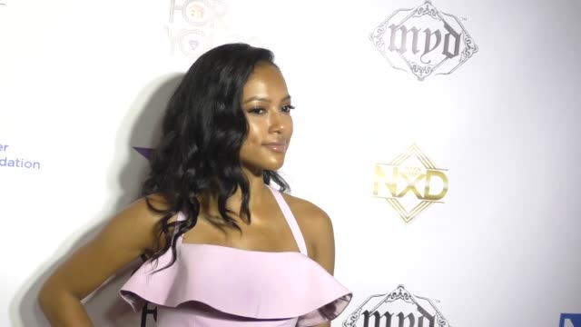 stockvideo's en b-roll-footage met karrueche tran at the 9th annual manifest your destiny toy drive and fundraiser on december 05, 2016 in hollywood, california. - manifest destiny