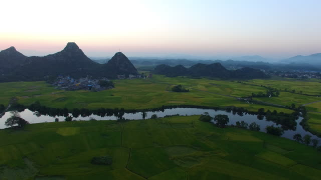 Karst area of the sunset.