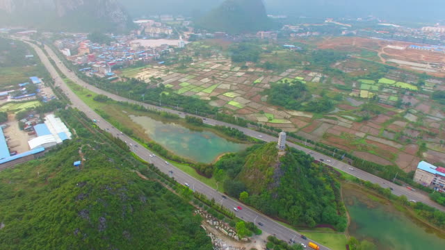 karst area of the sunset - guilin stock videos & royalty-free footage