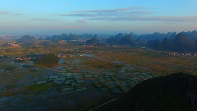 Karst area of the sunset,Guilin,China