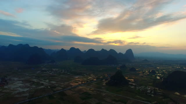 karst area of the sunset,guilin,china - yunnan province stock videos and b-roll footage