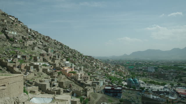 stockvideo's en b-roll-footage met karte sakhi shrine for ashura and hillside in kabul - afghanistan