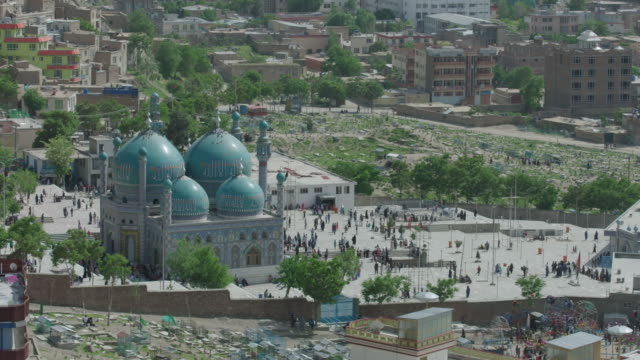 karte sakhi shrine for ashura in kabul. - afghanistan stock videos & royalty-free footage