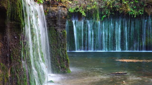 4 k、長野県の軽井沢の白糸の滝。 - 滝点の映像素材/bロール