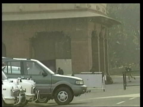Advani interview CUTAWAY LIB INDIA Delhi Muslim militants attacking ther Indian Parliament building