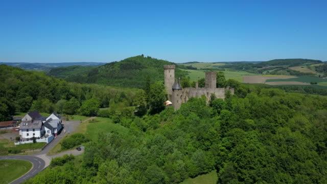 Kasselburg Castle near Gerolstein-Pelm, Vulkaneifel, Eifel, Rhineland-Palatinate, Germany