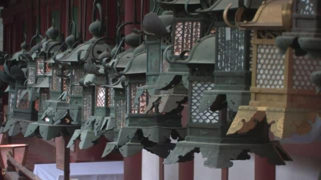 kasuga grand shrine, nara prefecture, japan - shrine stock videos & royalty-free footage