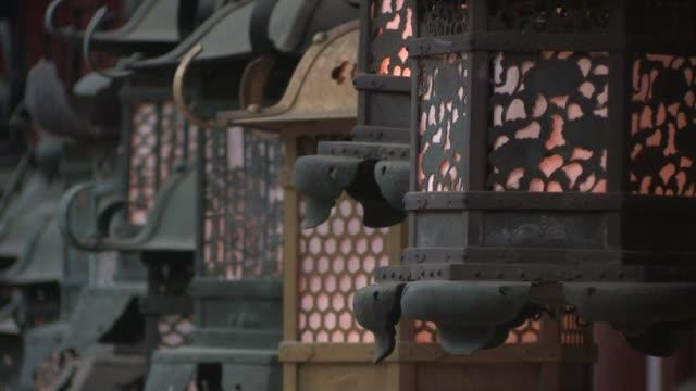 kasuga grand shrine, nara prefecture, japan - buddhism stock videos & royalty-free footage