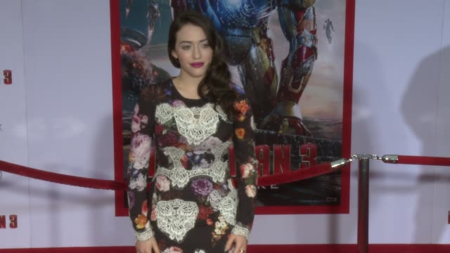 kat dennings at iron man 3 world premiere 4/24/2013 in hollywood, ca. - tights stock videos & royalty-free footage
