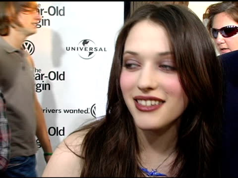 kat dennings on her character, on blowing her screen test, on steve carell's ability to play a virgin, on her next projects at the 'the 40-year-old... - arclight cinemas hollywood stock videos & royalty-free footage
