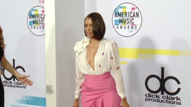 kat graham at 2017 american music awards on november 19 2017 in los angeles california - american music awards stock videos & royalty-free footage